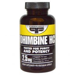 1 Yohimbine HCl, 2.5 mg